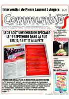 Journal CommunisteS n°690 30 août 2017