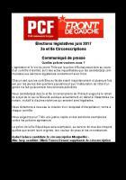 Communiqué de presse des candidats communistes des 2 ème et 8 ème circonscriptions en réaction aux violences d'Aulnay-Sous-Bois