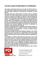 UN VOTE LUCIDE DE RÉSISTANCE ET D'ESPÉRANCE