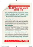 Tract National de la Campagne 2017