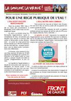 Tract - Pour une régie publique de l'eau !