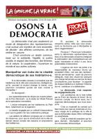 Tract - Osons la démocratie !