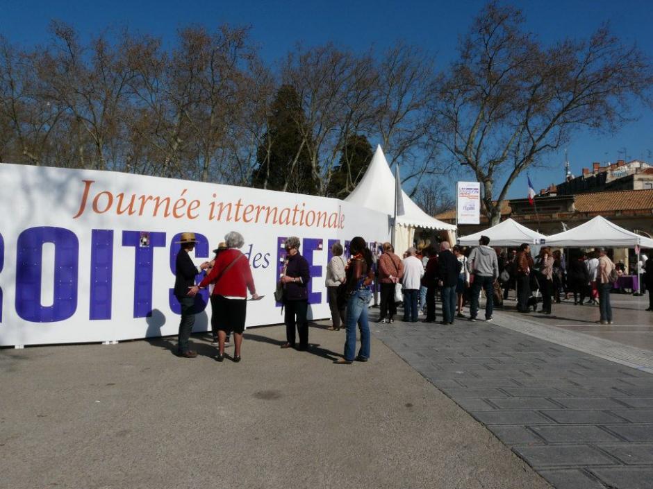 Les photos du rassemblement de la journée internationale des droits des femmes