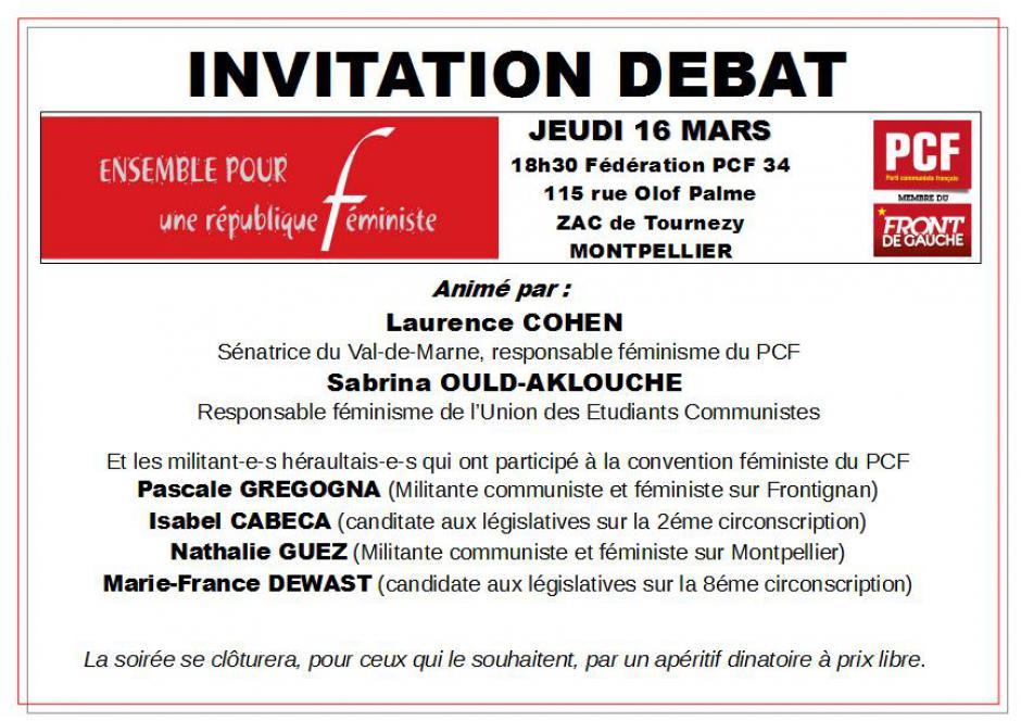 Débats autour de la Convention Féministe du PCF