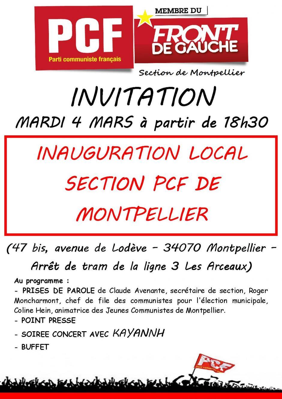 Inauguration du local de la section PCF de Montpellier