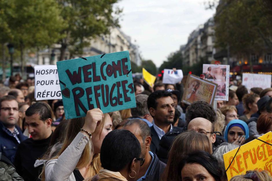 Manifestation de soutien aux réfufgiés à Montpellier