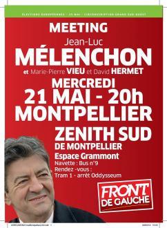 Meeting de la liste Front de Gauche aux élections européennes